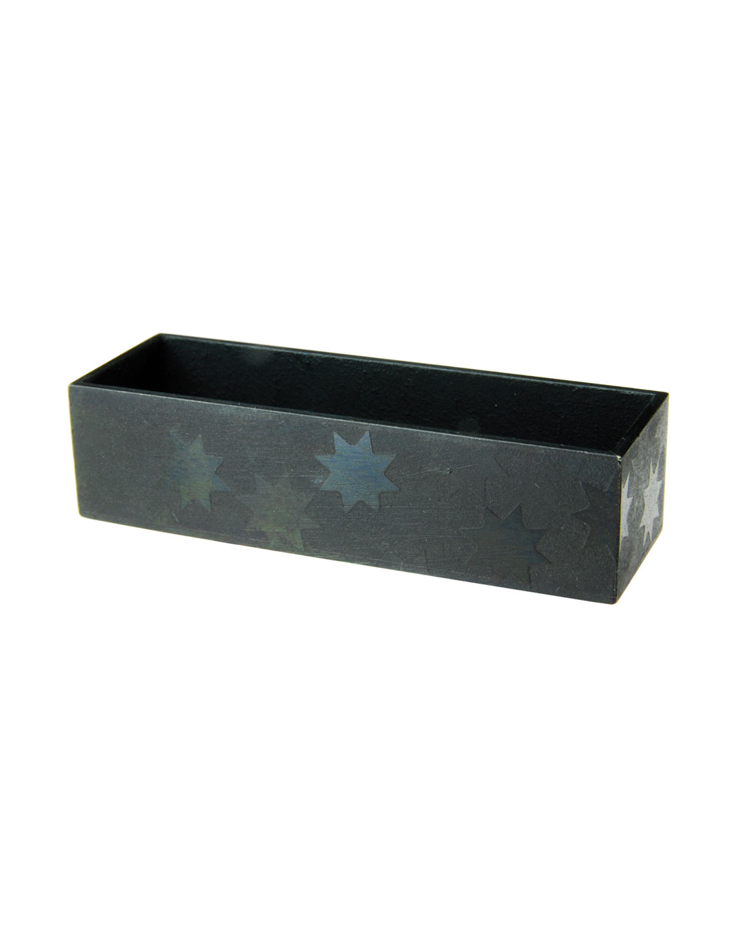 Tore Svensson, Box, 2009, brooch; etched and painted steel, 60 x 20 x 15 mm, €510
