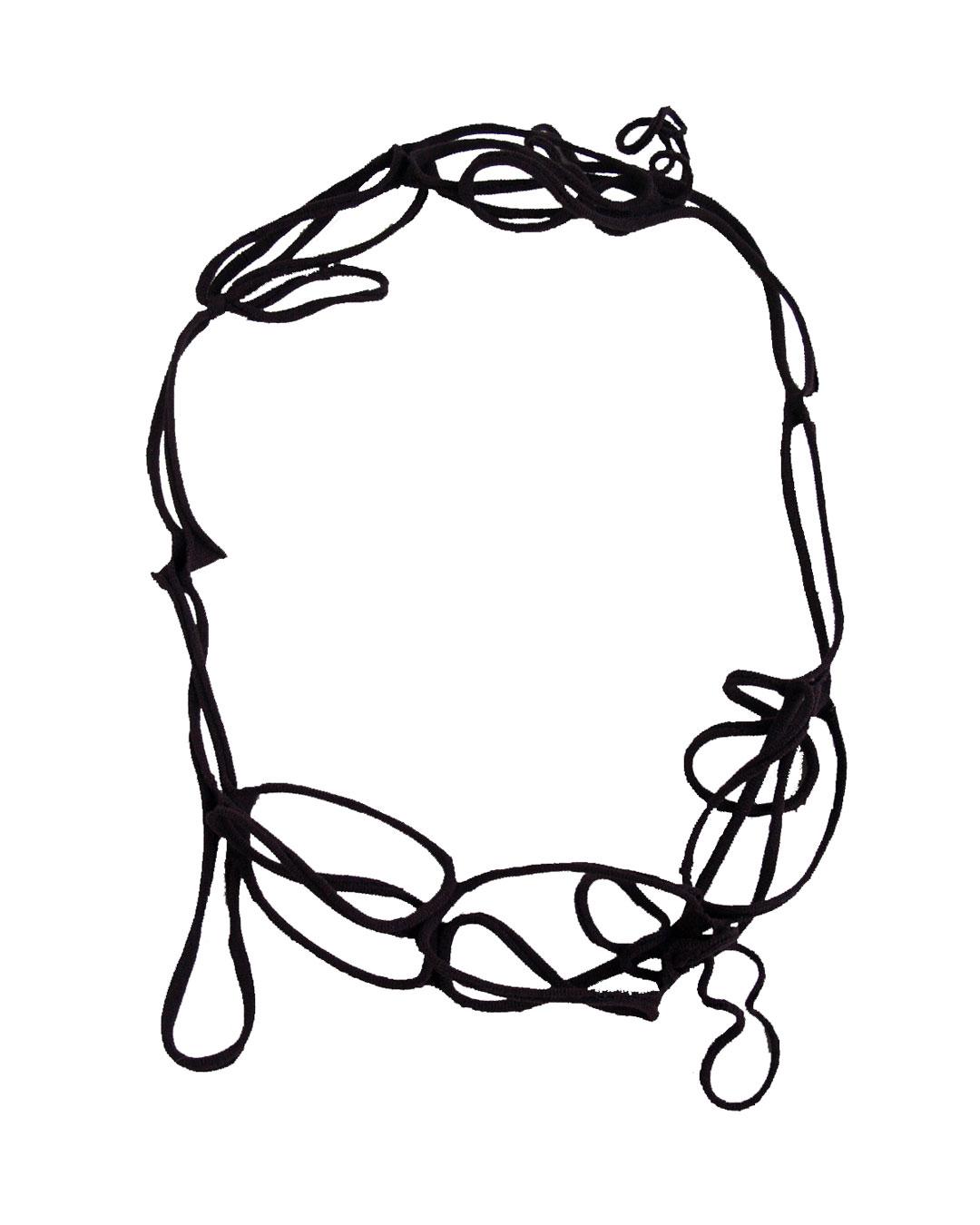Mirei Takeuchi, untitled, 2008, necklace; nylon stockings, 470 x 37 x 6 mm, €185