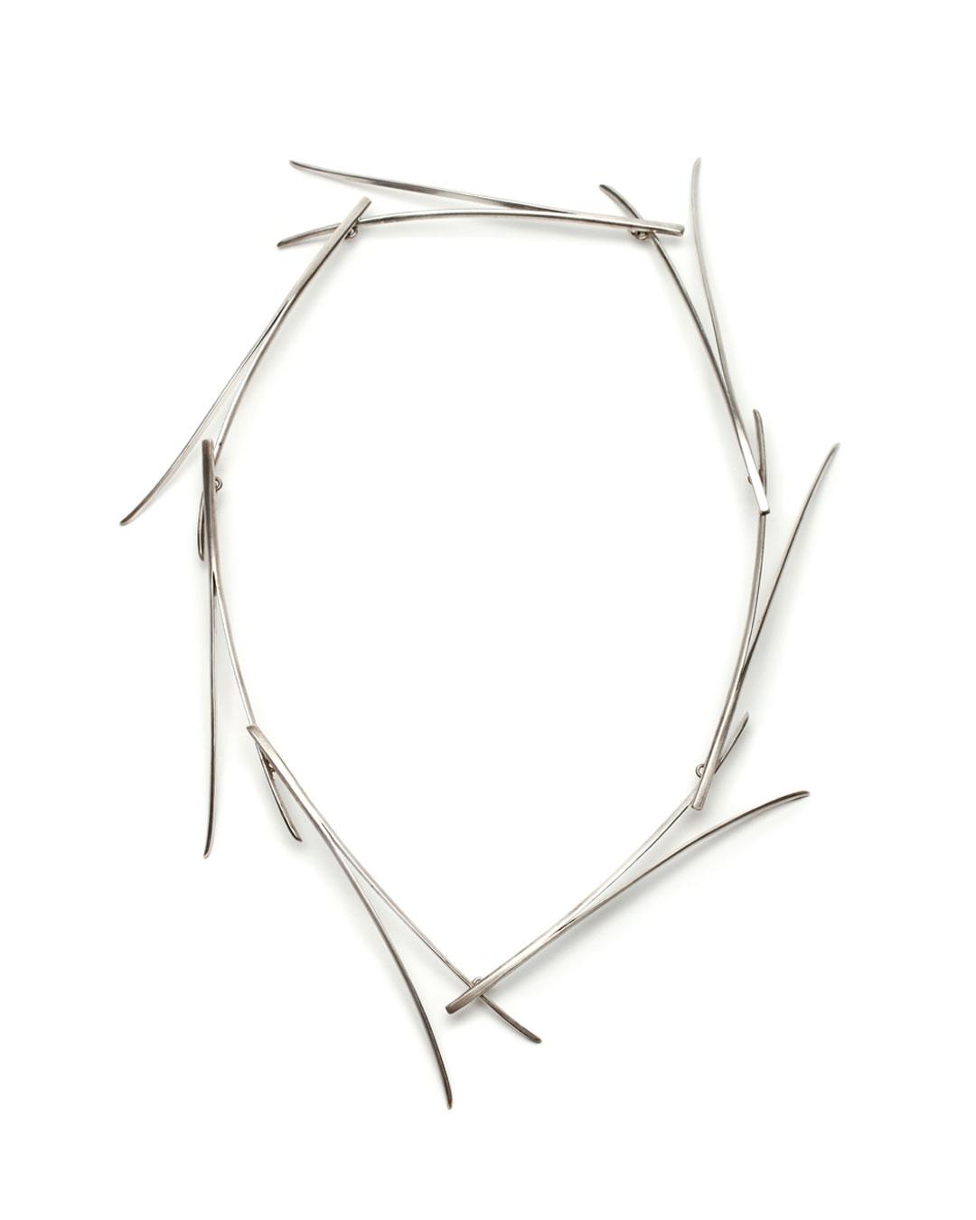 Silke Trekel, Föhren (Pines), 2016, necklace; silver, 320 x 235 x 20 mm, €3880