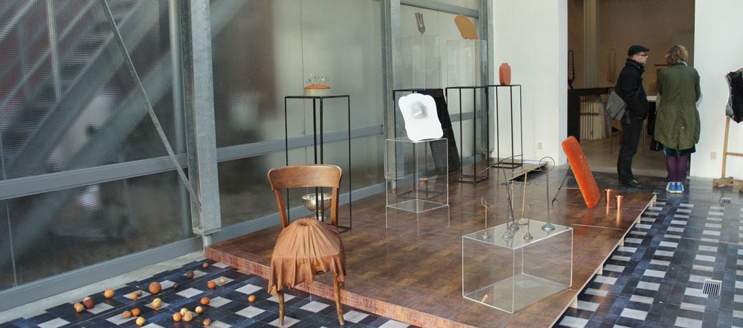 Hilde De Decker - On The Move - in het glazen huis van Galerie Marzee, 2011