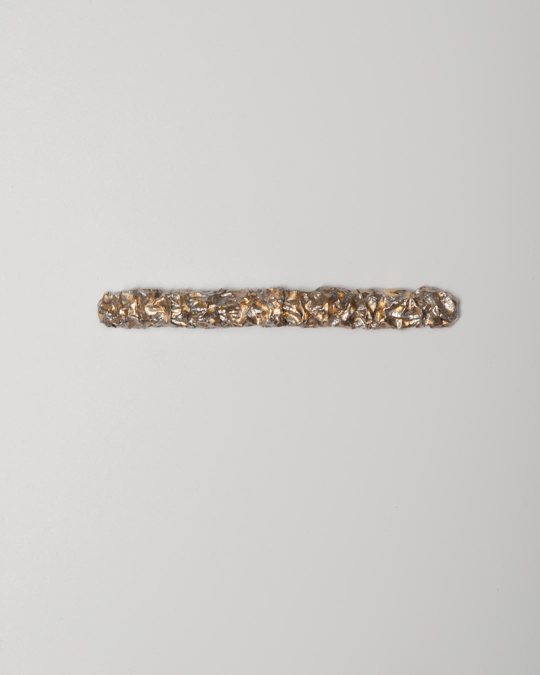 Yasuki Hiramatsu, untitled, brooch; platinum, 24ct gold, €3250