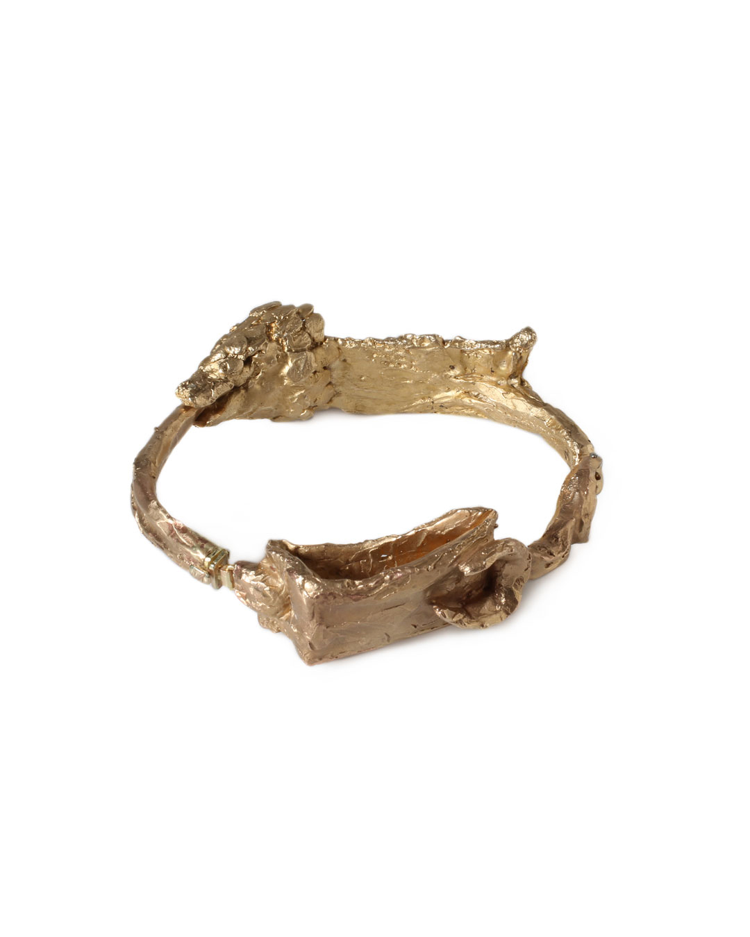 Juliane Brandes, untitled, 2013, bracelet; bronze, 14ct gold, 90 x 25 mm, €1950