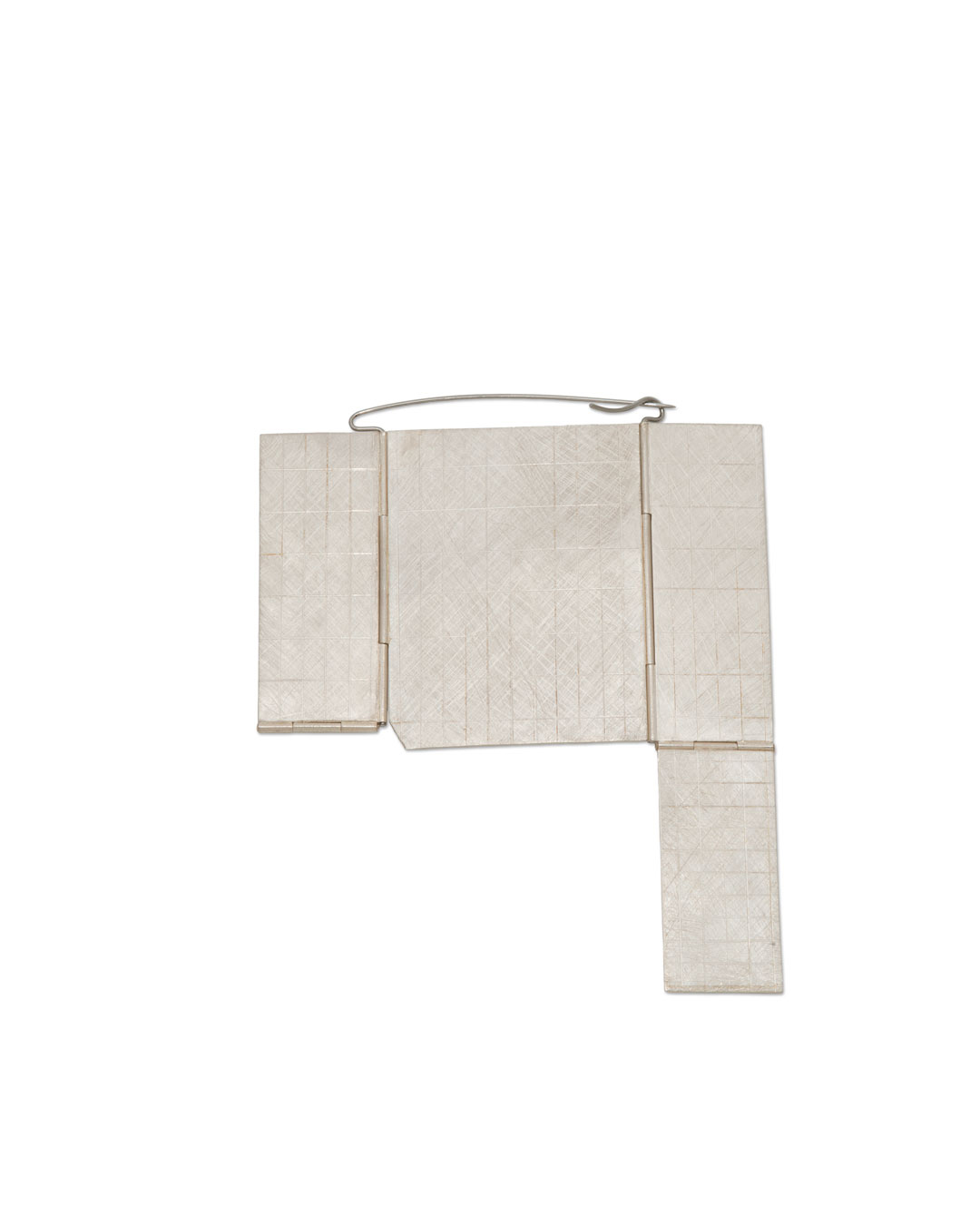 Noam Elyashiv, Box, 2017, brooch; reclaimed silver, steel, 81 x 72 x 0,8 mm, €1560