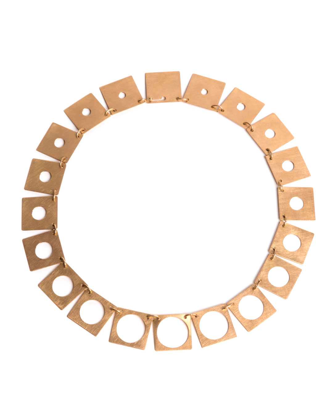 Herman Hermsen, Holes, 2012, necklace; 18ct gold, 170 x 170 x 2 mm, price on request