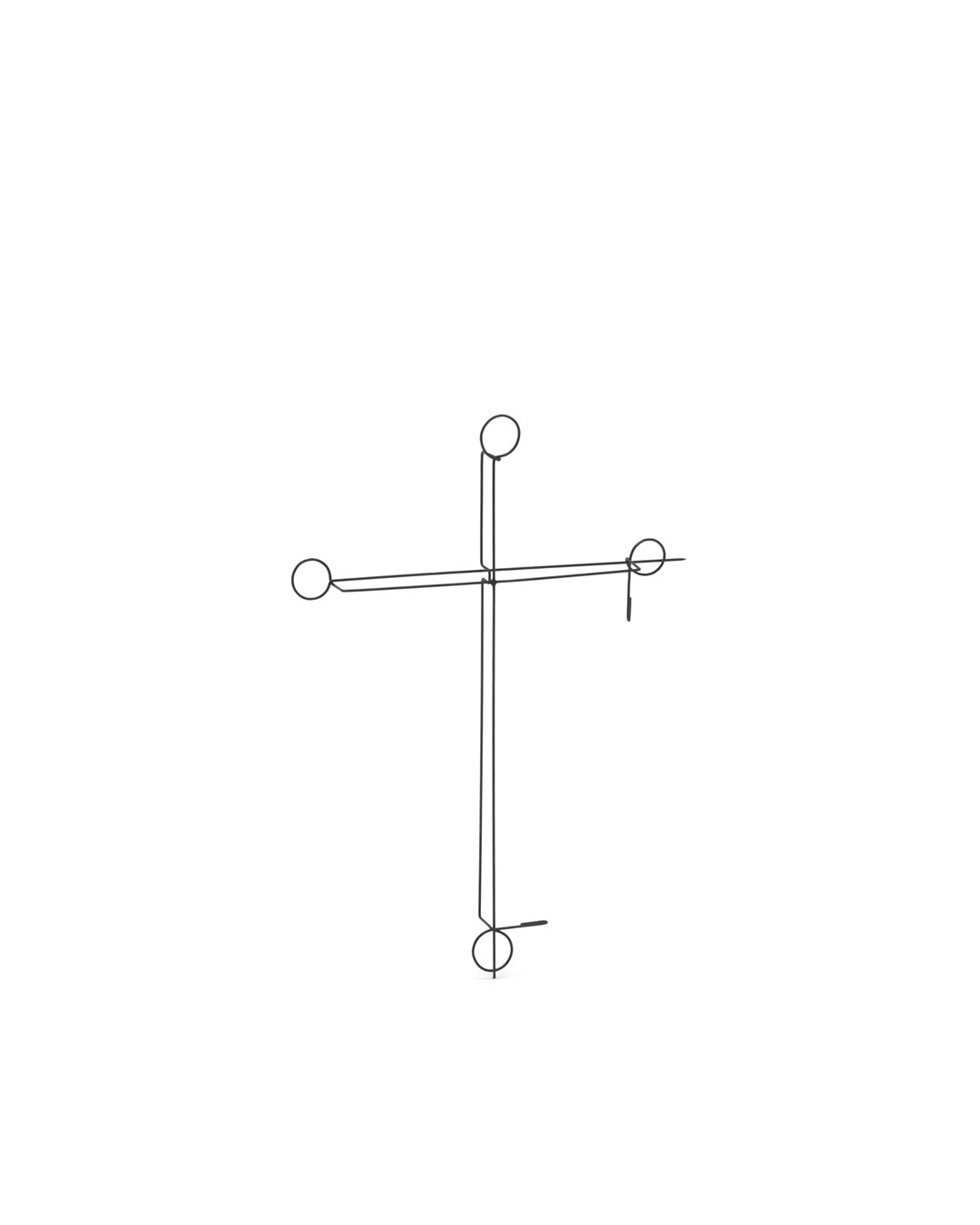 Junwon Jung, 2 Pins 03, 2015, brooch; steel, 105 x 75 x 8 mm, €610