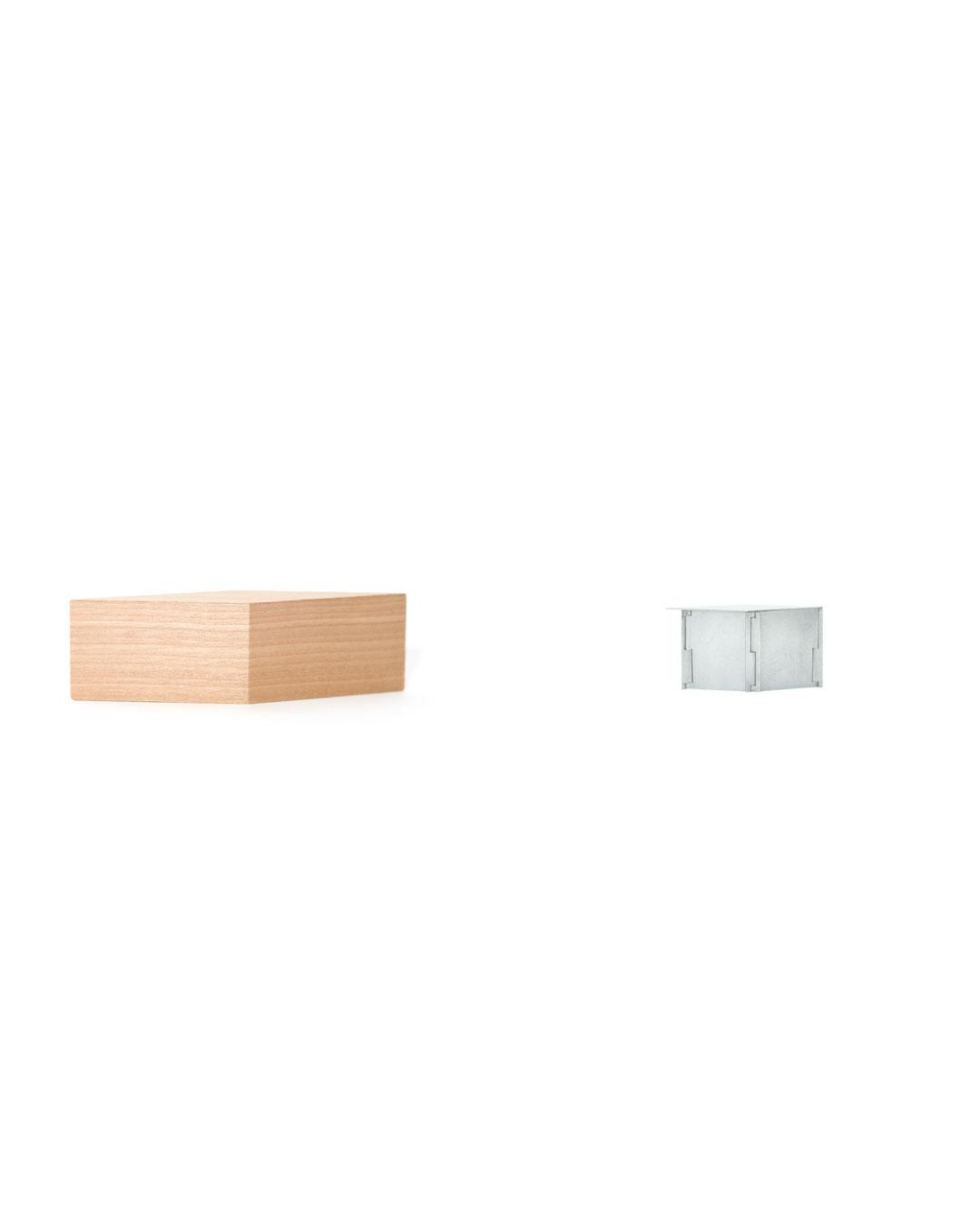 Junwon Jung, Box 4, 2019, brooch; zinc, silver, steel, wood, 75 x 35 x 80 mm, €2420 (image 2/2)