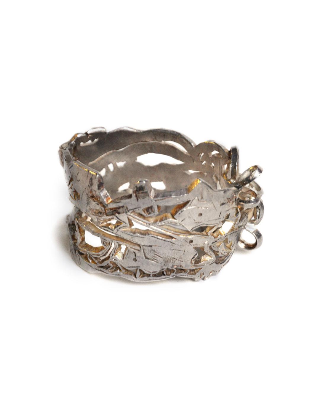 Rudolf Kocéa, Stier (Bull), 2008, bracelet; silver, ø 70 x 40 mm, €2750