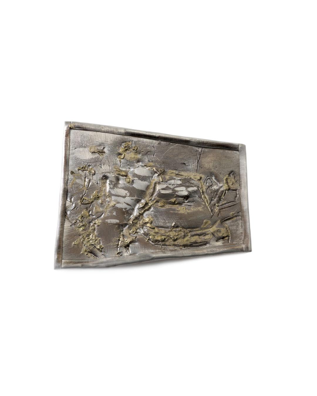 Rudolf Kocéa, Präsentation (Presentation), 2016, brooch; silver, copper, gold, 107 x 130 mm, €2200