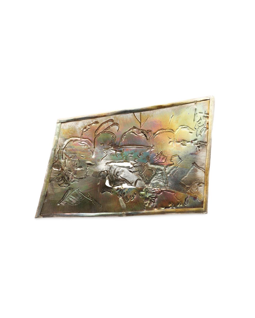 Rudolf Kocéa, Der Hut (The Hat), 2016, brooch; silver, copper, 110 x 150 mm, €2250