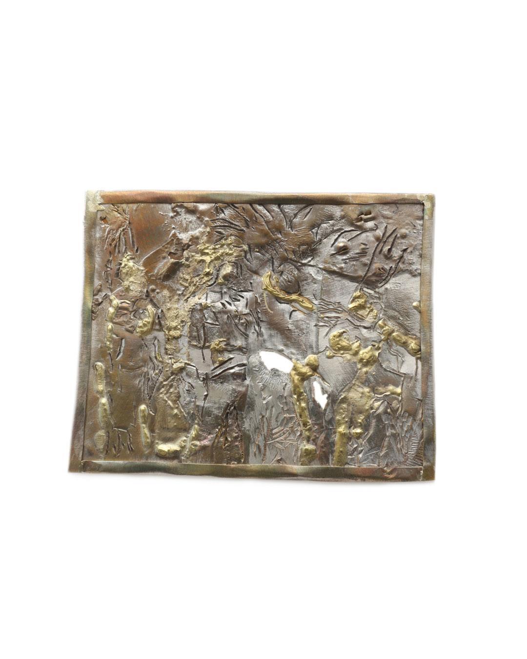 Rudolf Kocéa, Studio Olympia, 2016, brooch; silver, copper, gold, 105 x 130 mm, €2130