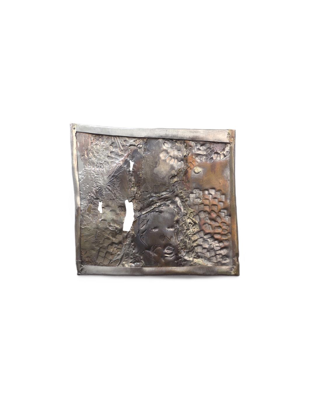 Rudolf Kocéa, Oh Donald, 2016, brooch; silver, copper, gold, 100 x 130 mm, €2000