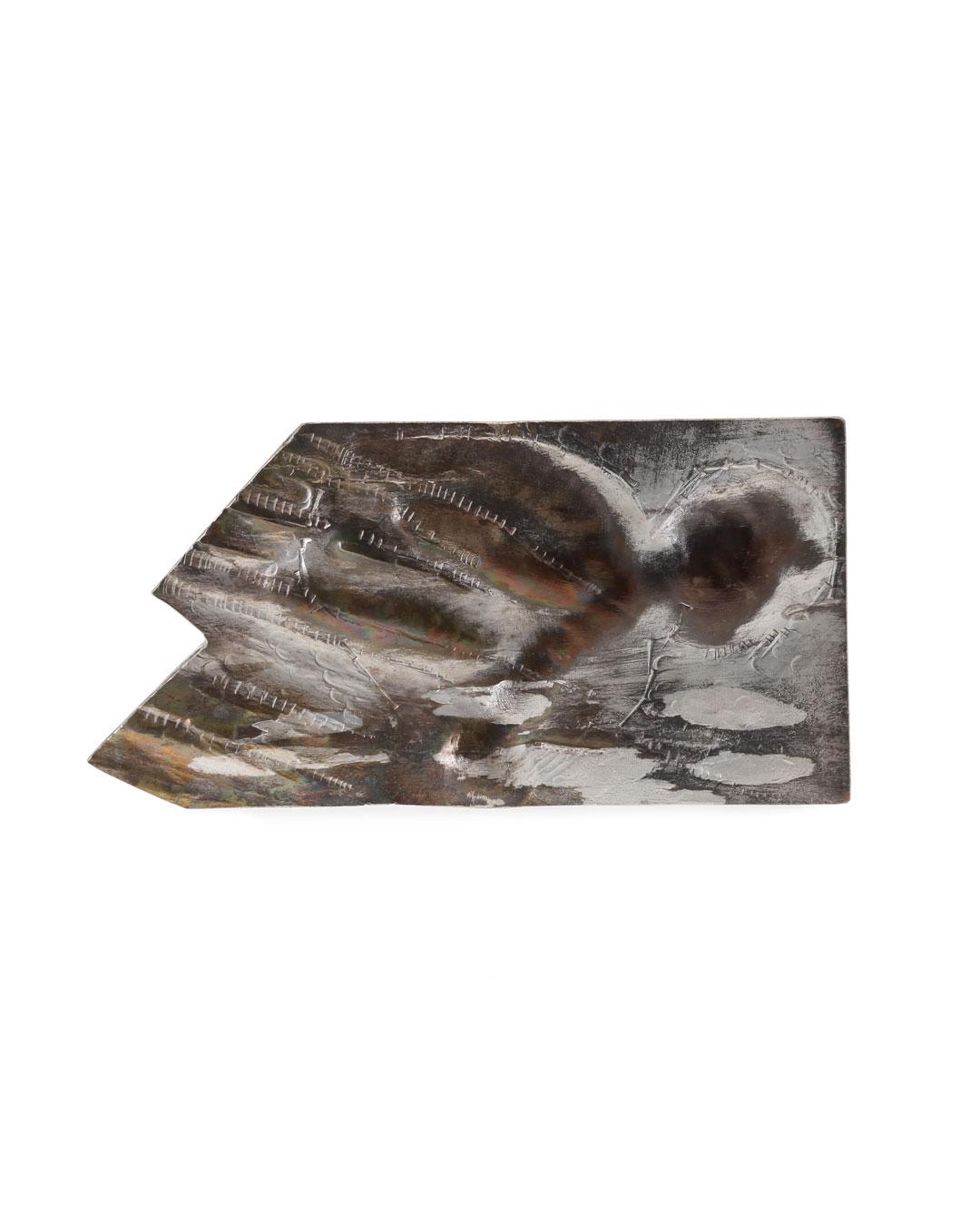 Rudolf Kocéa, Der Sprung (The Leap), 2017, brooch, silver, copper, 130 x 70 x 8 mm, €2400