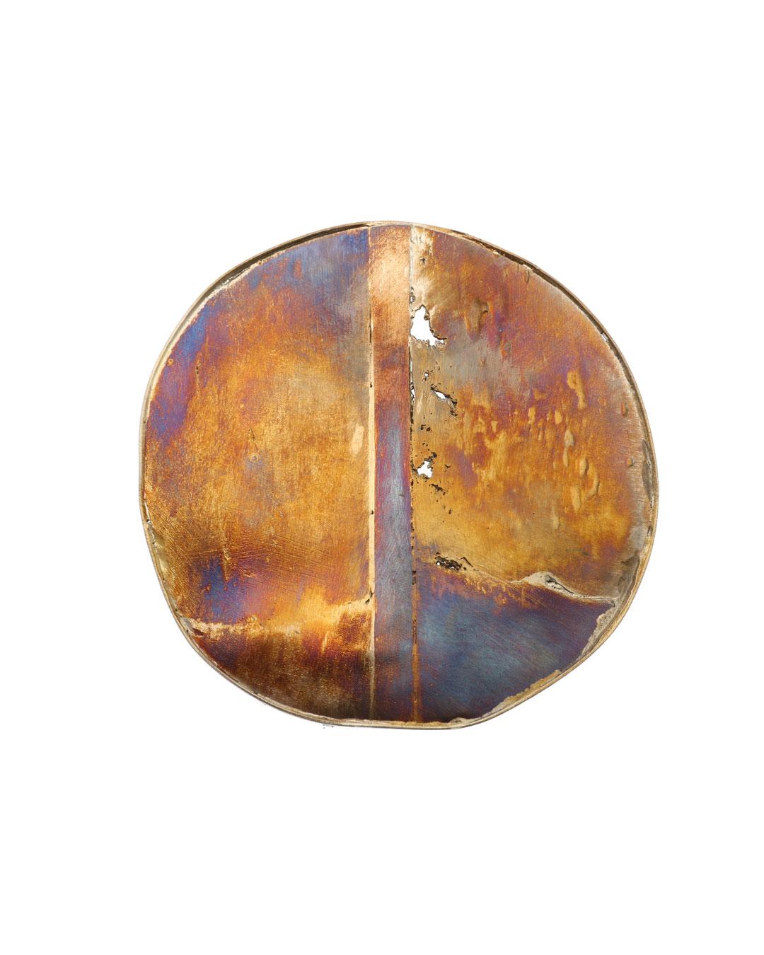 Rudolf Kocéa, Alles (Everything), 2018, brooch; silver, copper, ø 90 mm, €2150