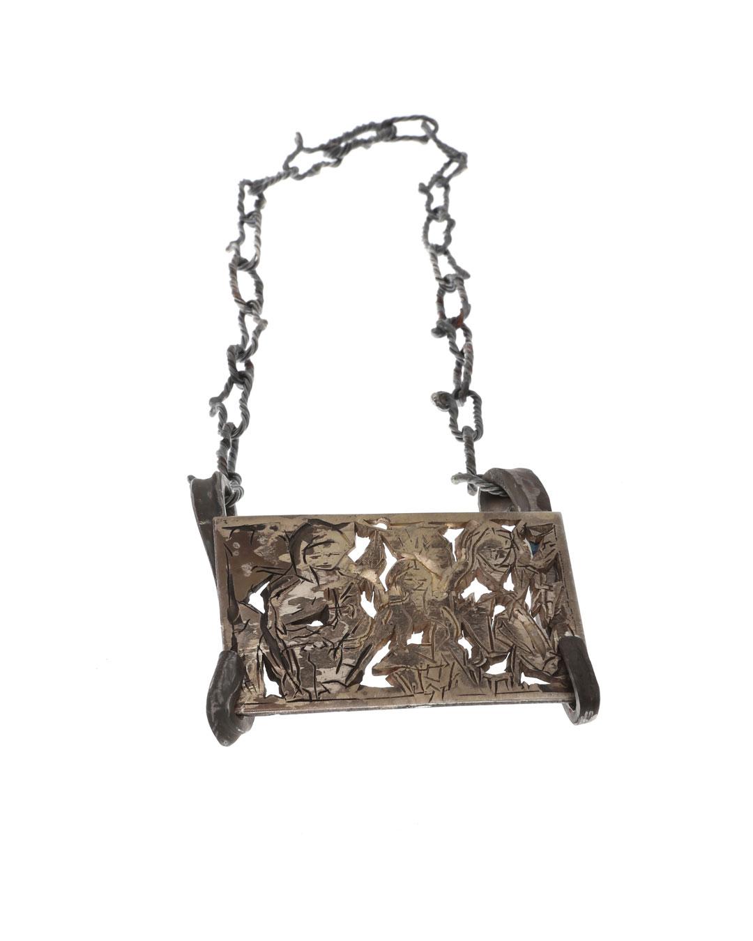 Rudolf Kocéa, Beyoncé Family, 2018, necklace; silver, copper, titanium, 100 x 100 x 20 mm, €3500