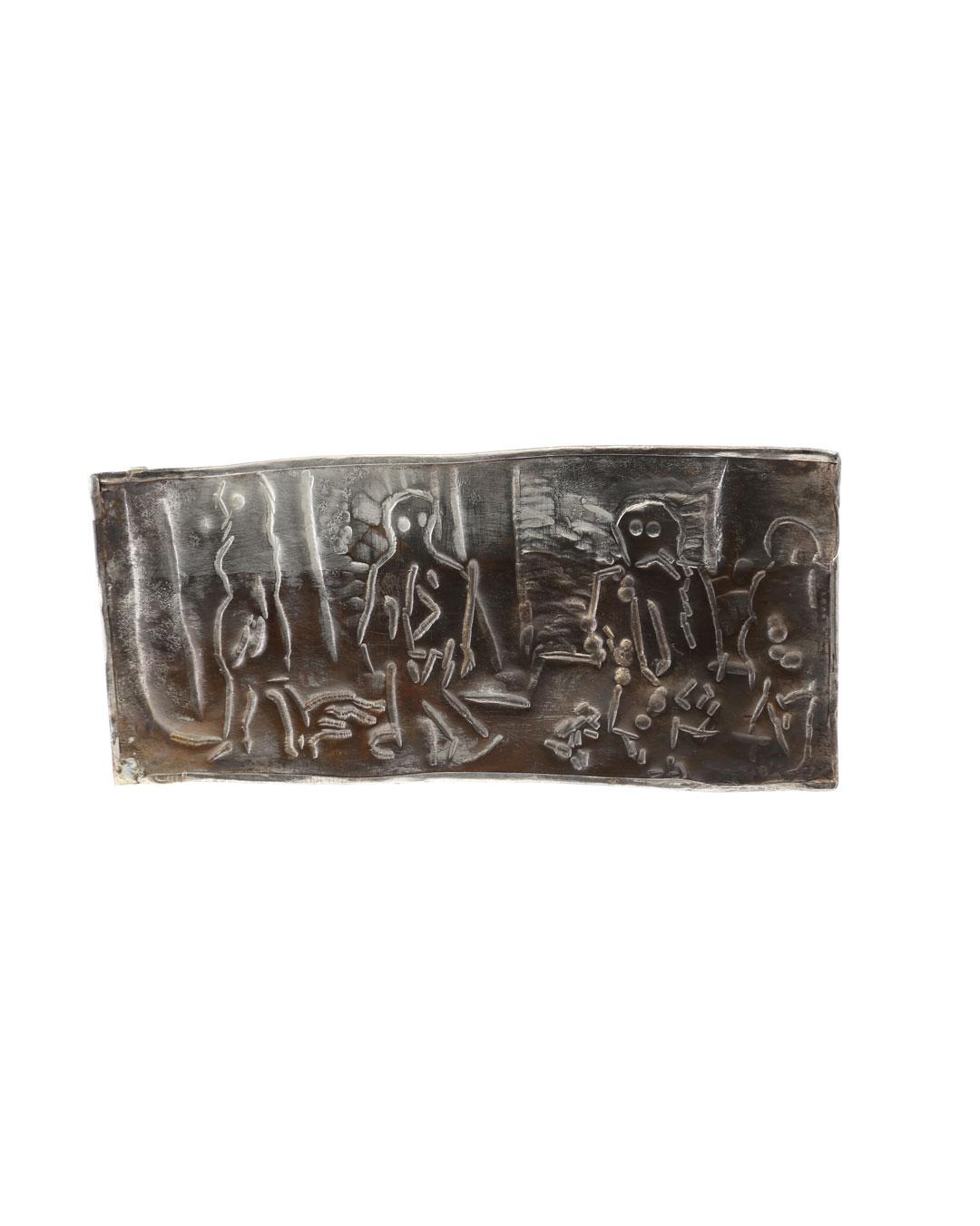 Rudolf Kocéa, Trump wird gebracht (Trump is Brought), 2017, brooch; silver, copper, 115 x 76 x 3 mm, €2950