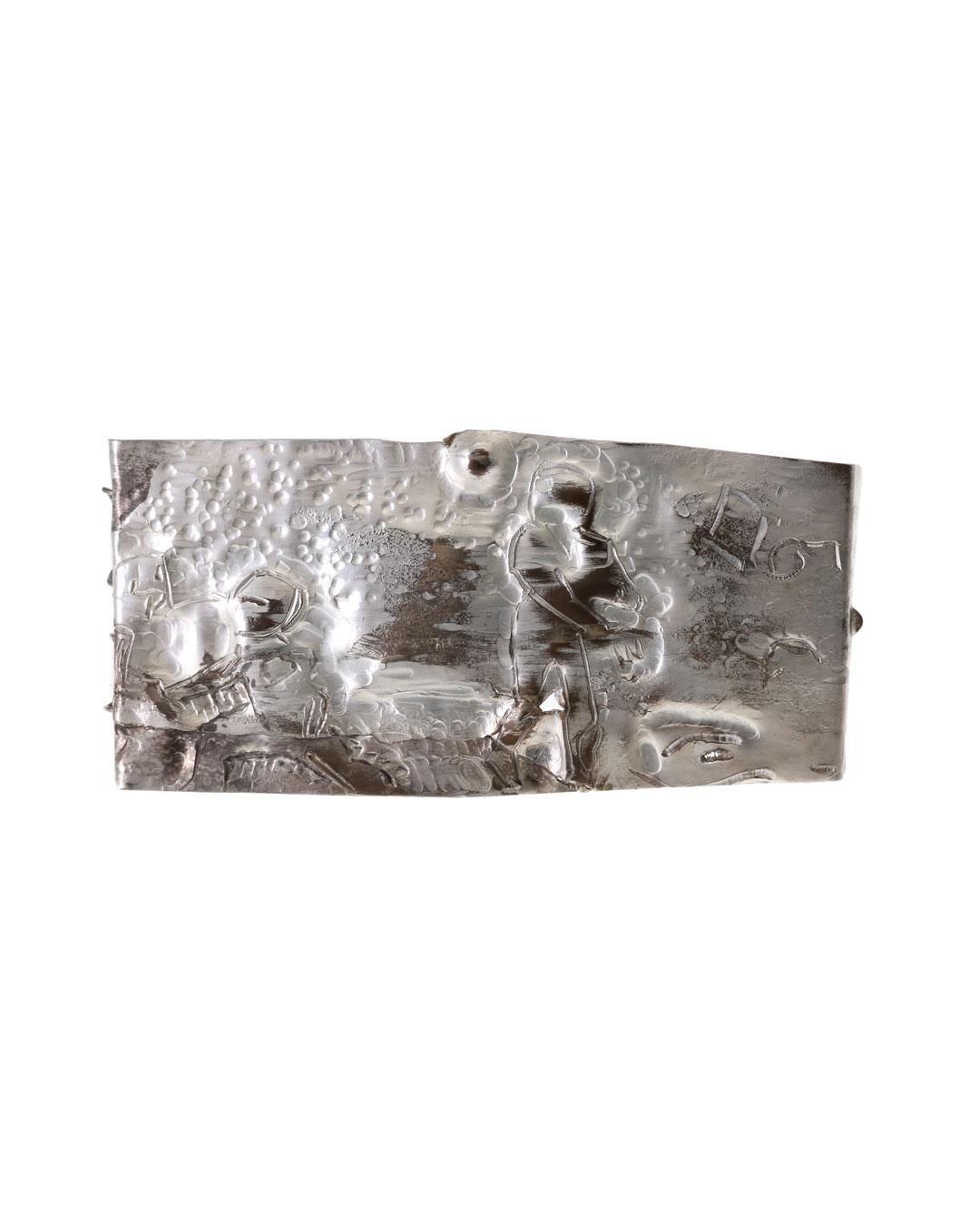 Rudolf Kocéa, Super Bowl, 2017, brooch; silver, copper, 155 x 80 x 10 mm, €2400