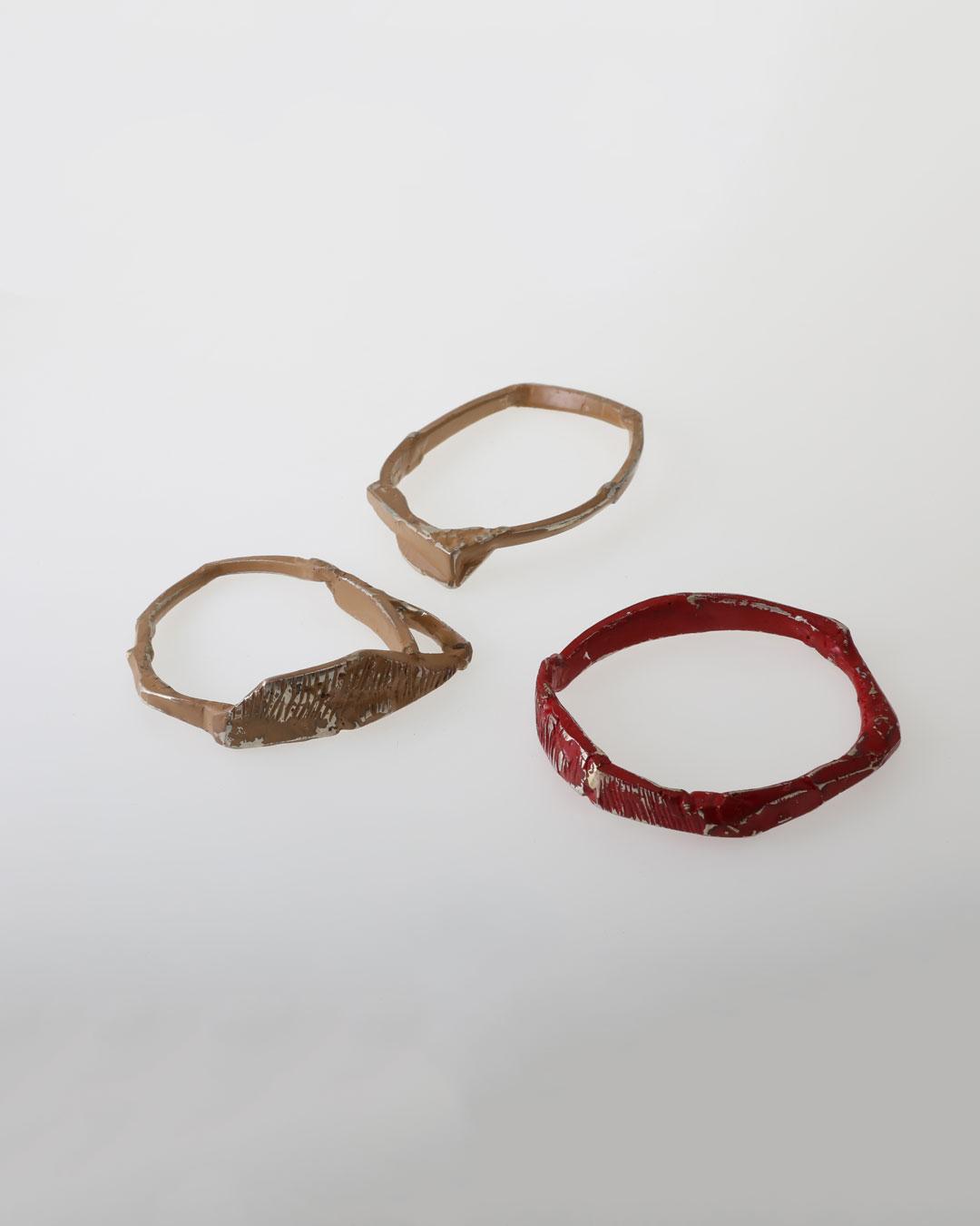 Rudolf Kocéa, Match Match Match, 2018, bracelet; silver, paint, ø 70 mm, €750 each