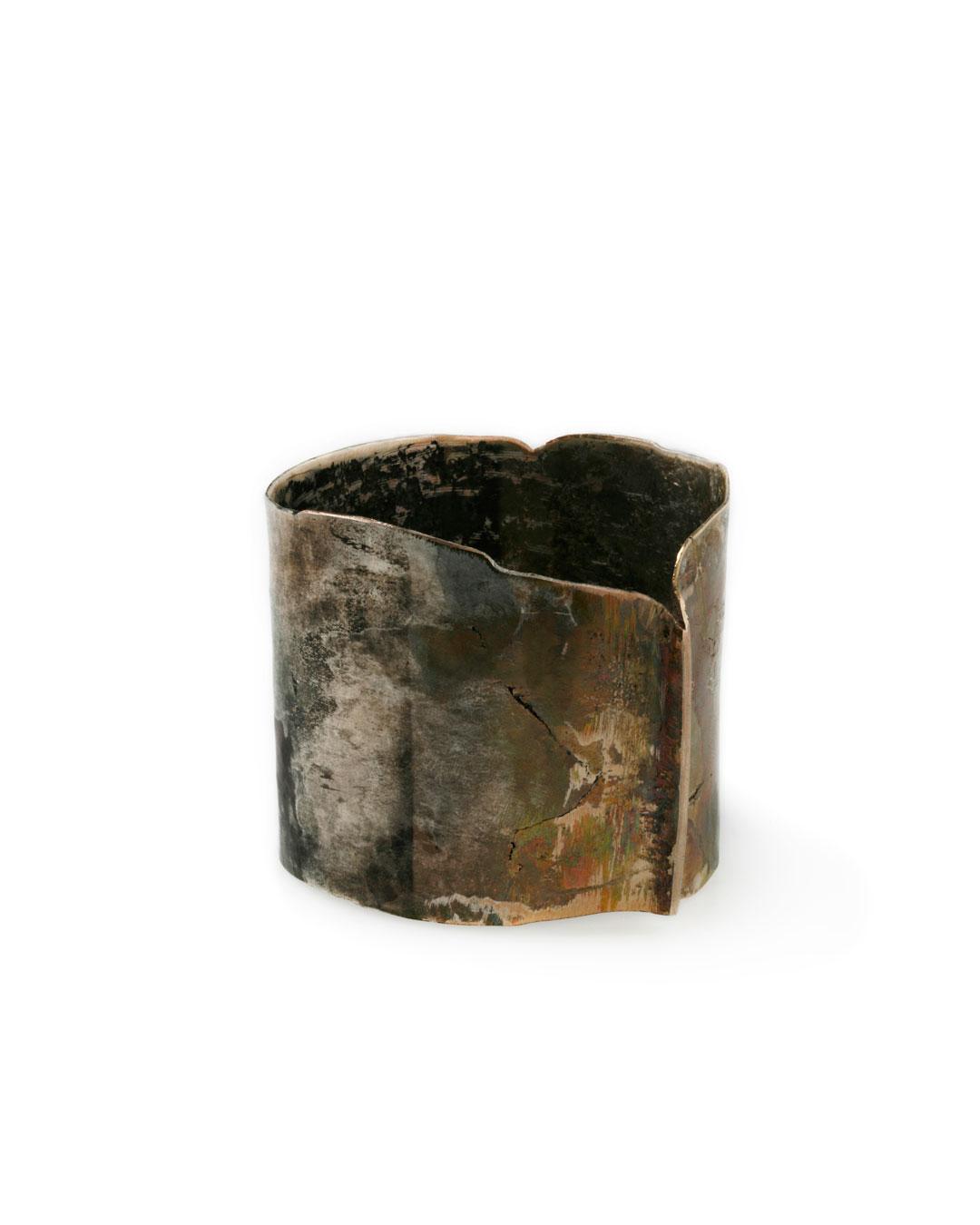 Rudolf Kocéa, V - Wald (Wood), 2011, bracelet; silver, copper, 67 x 78 x 84 mm, €1985