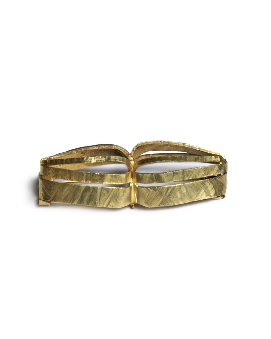 Rudolf Kocéa, Boot (Boat), 2006, brooch; 14ct gold, 60 x 25 x 18 mm, €3840