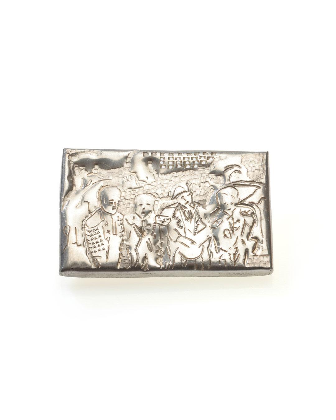 Rudolf Kocéa, Tenöre (Tenors), 2012, brooch; silver, 50 x 80 x 6 mm, €1050