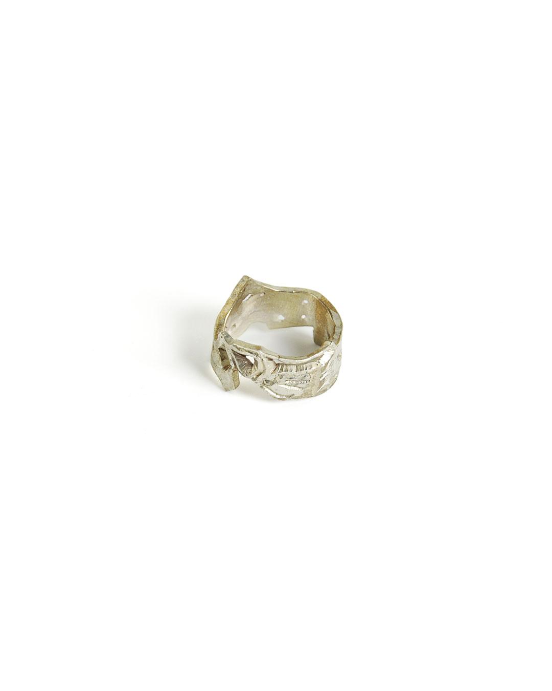 Rudolf Kocéa, untitled, 2014, ring; silver alloy, ø 23 x 15 mm, €680