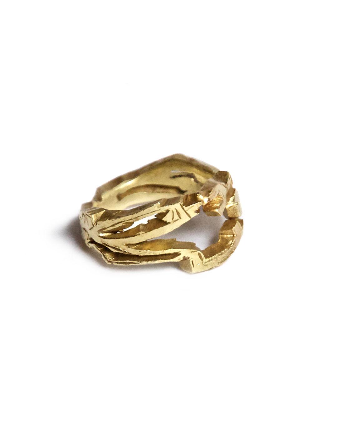 Rudolf Kocéa, Lücke (Hole), 2007, ring; 14ct gold, 23 x 22 x 7 mm, €1940