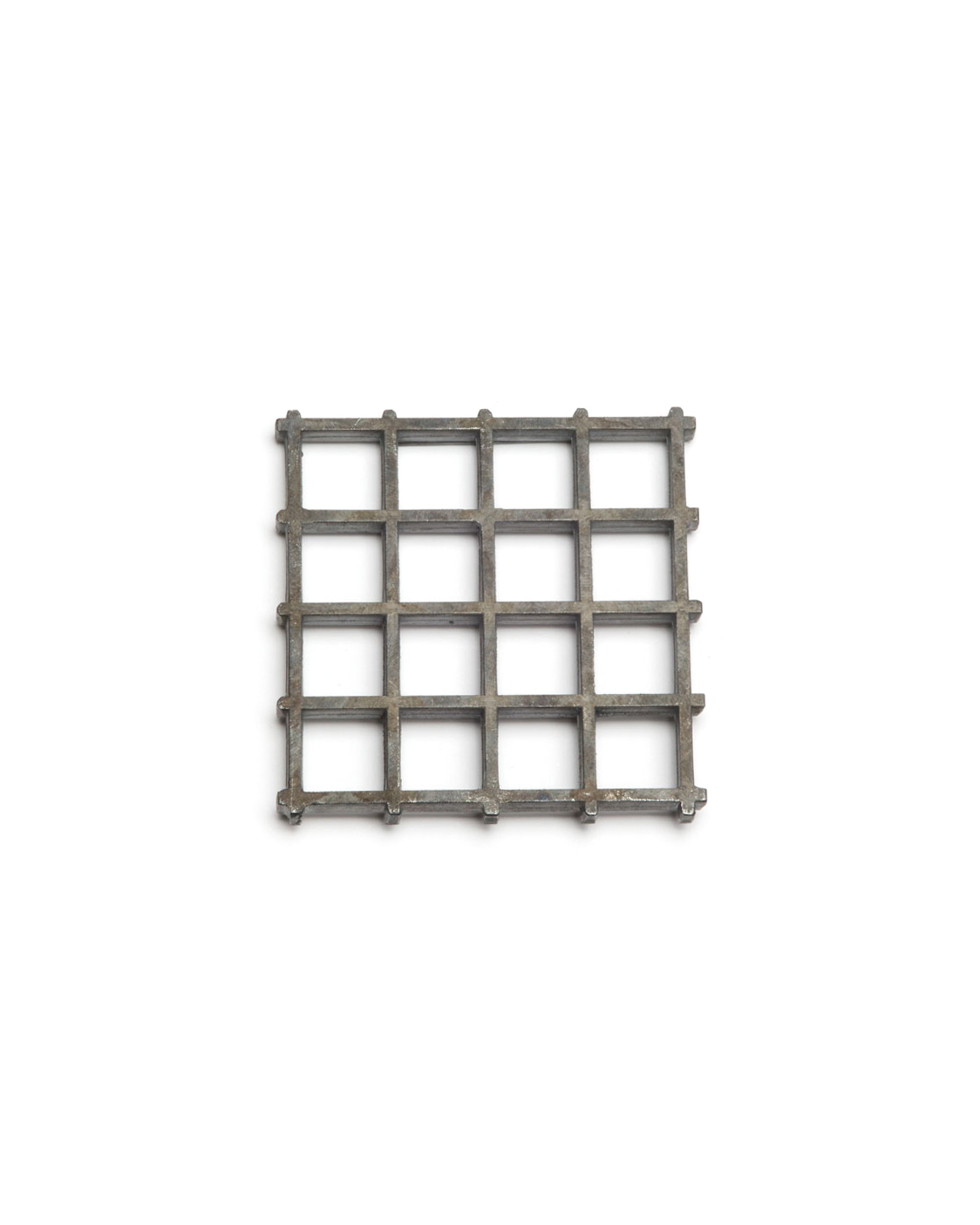 Winfried Krüger, untitled, 2003, brooch; oxidised silver, 60 x 60 mm, €875