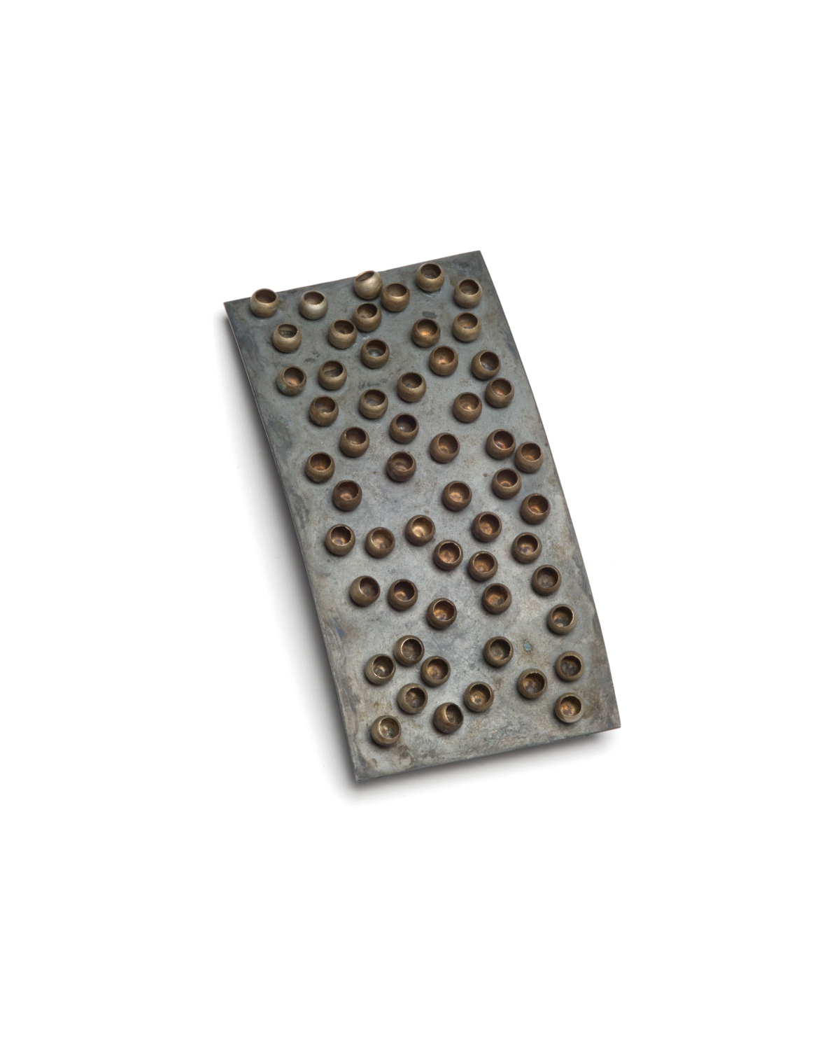 Winfried Krüger, untitled, 2006, brooch; oxidised silver, brass, 90 x 45 mm, €1210