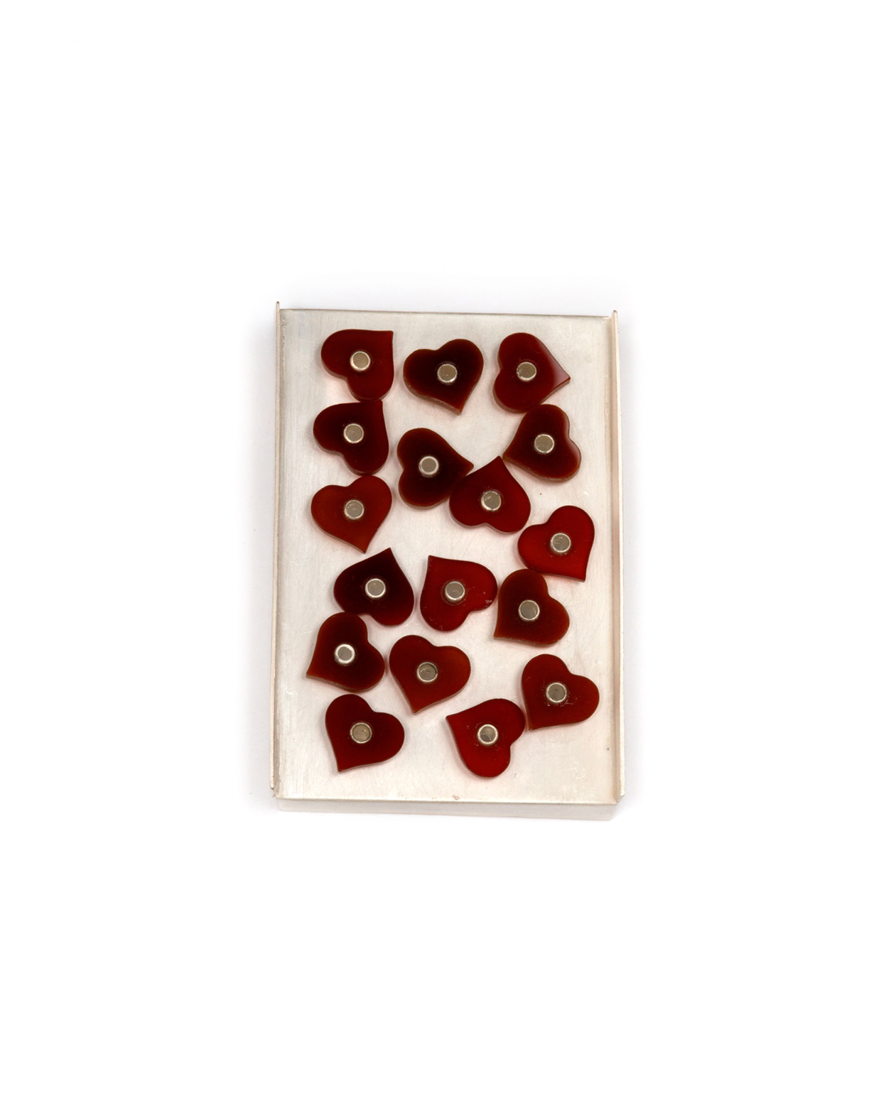 Winfried Krüger, untitled, 2006, brooch; silver, carnelian, 75 x 50 mm, €2180