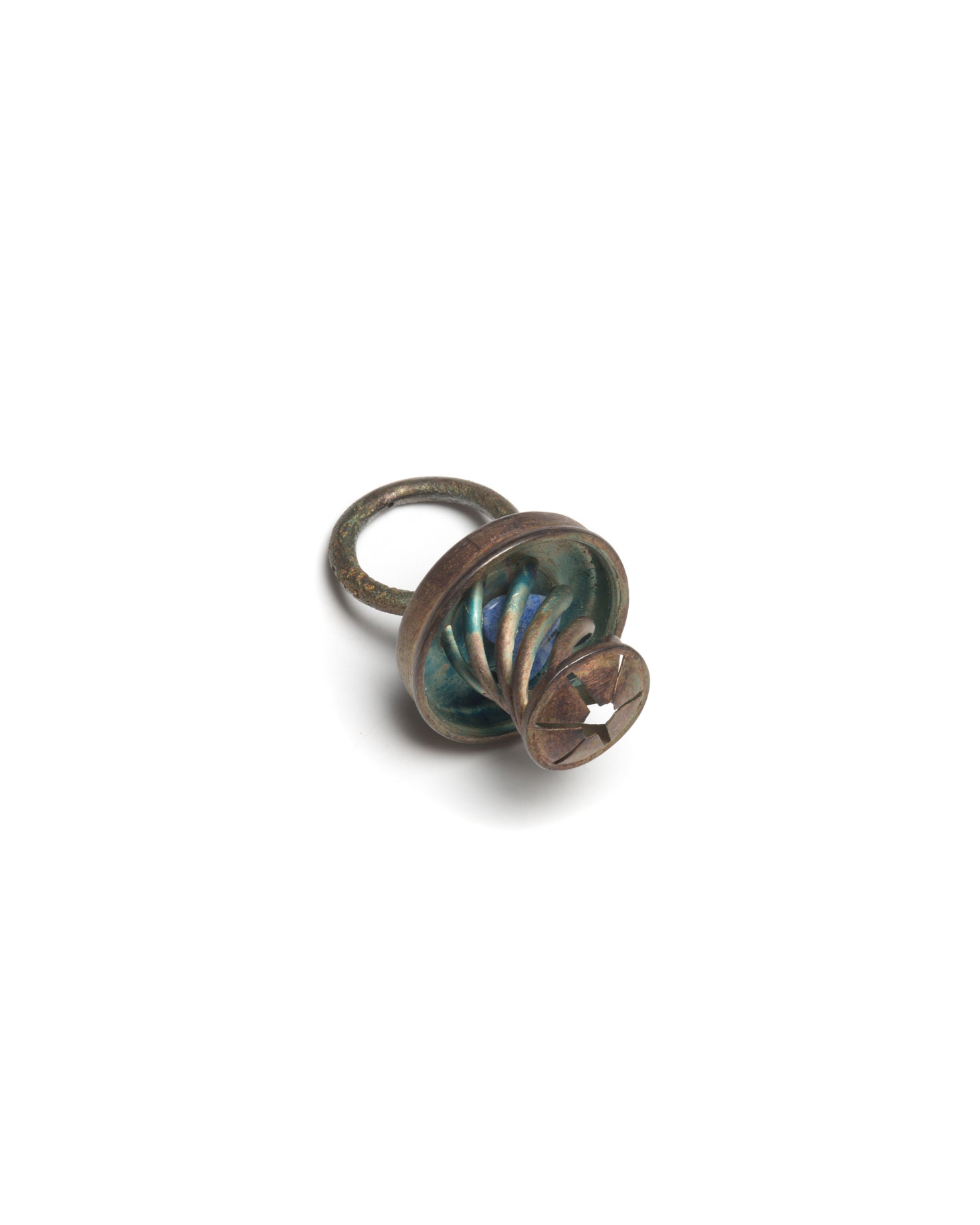 Winfried Krüger, untitled, 1995, ring; oxidised silver, 45 x 30 mm, €850