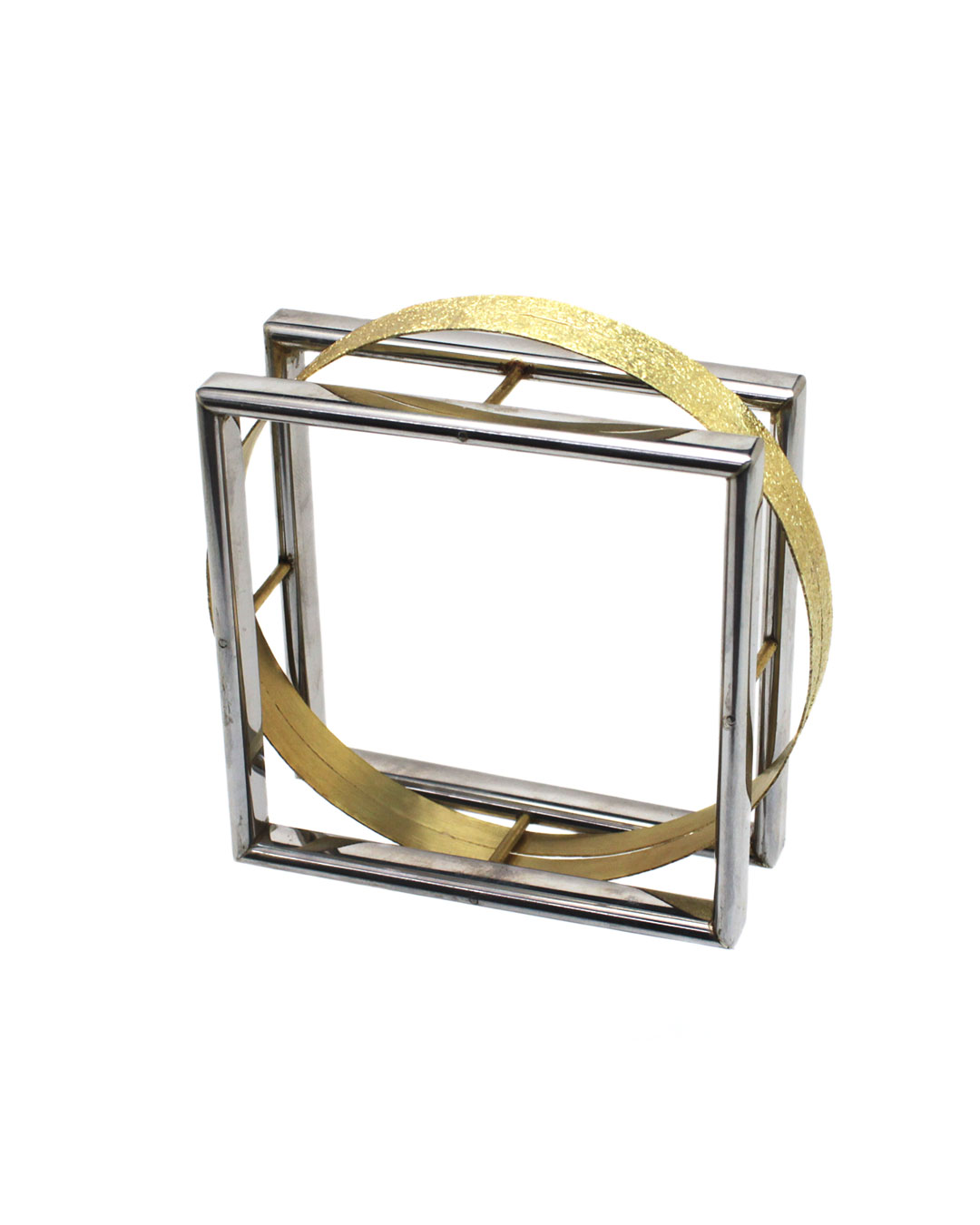 Okinari Kurokawa, untitled, 2014, bracelet, 20ct gold, stainless steel, 75 x 75 x 26 mm, €2950