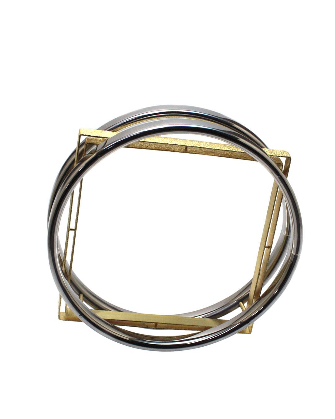 Okinari Kurokawa, untitled, 2014, bracelet; 20ct gold, stainless steel, 83 x 83 x 20 mm, €3900