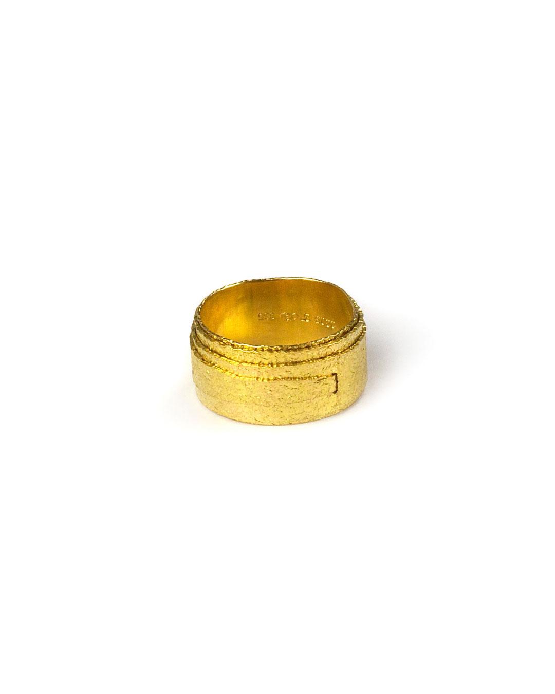 Okinari Kurokawa, untitled, 1997, ring; 20ct gold, ø 20 x 10 mm, €1500