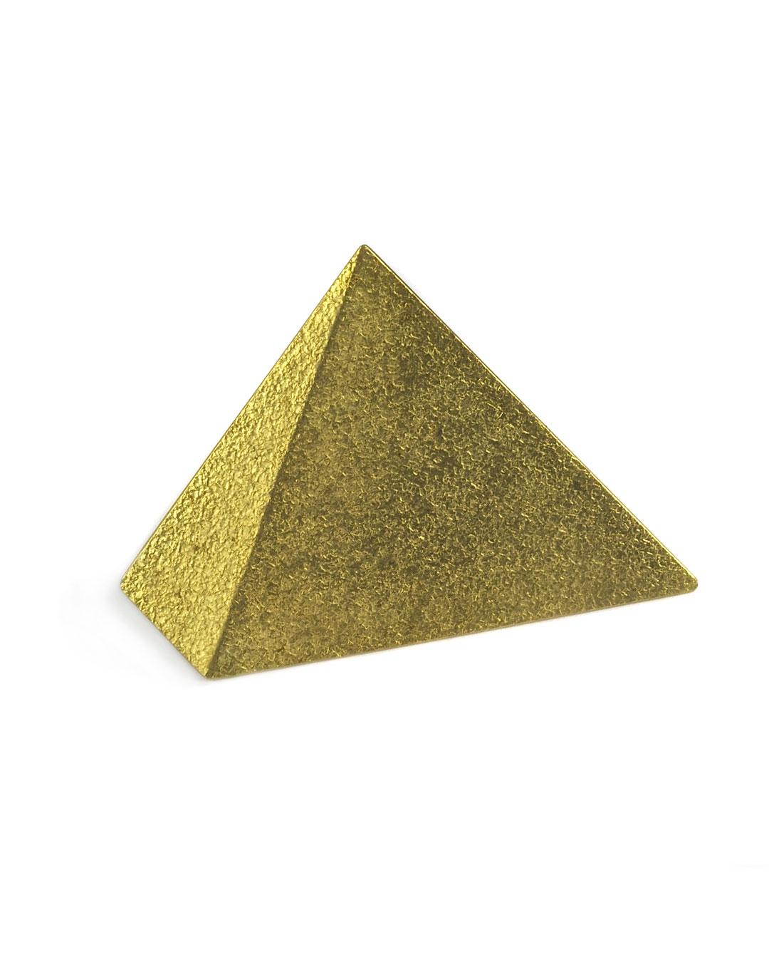 Okinari Kurokawa, untitled, 2007, brooch; 20ct gold, stainless steel, 52 x 40 x 3 mm, €1700