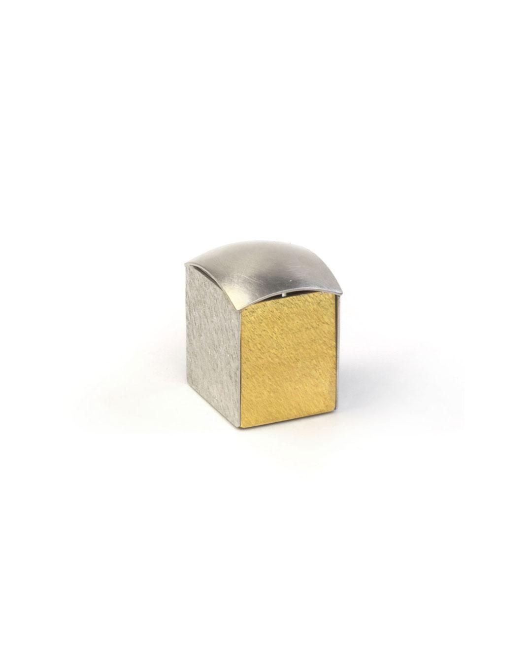 Okinari Kurokawa, untitled, 2008, ring; 970 silver, 835 gold, 23 x 20 x 17 mm, €1700