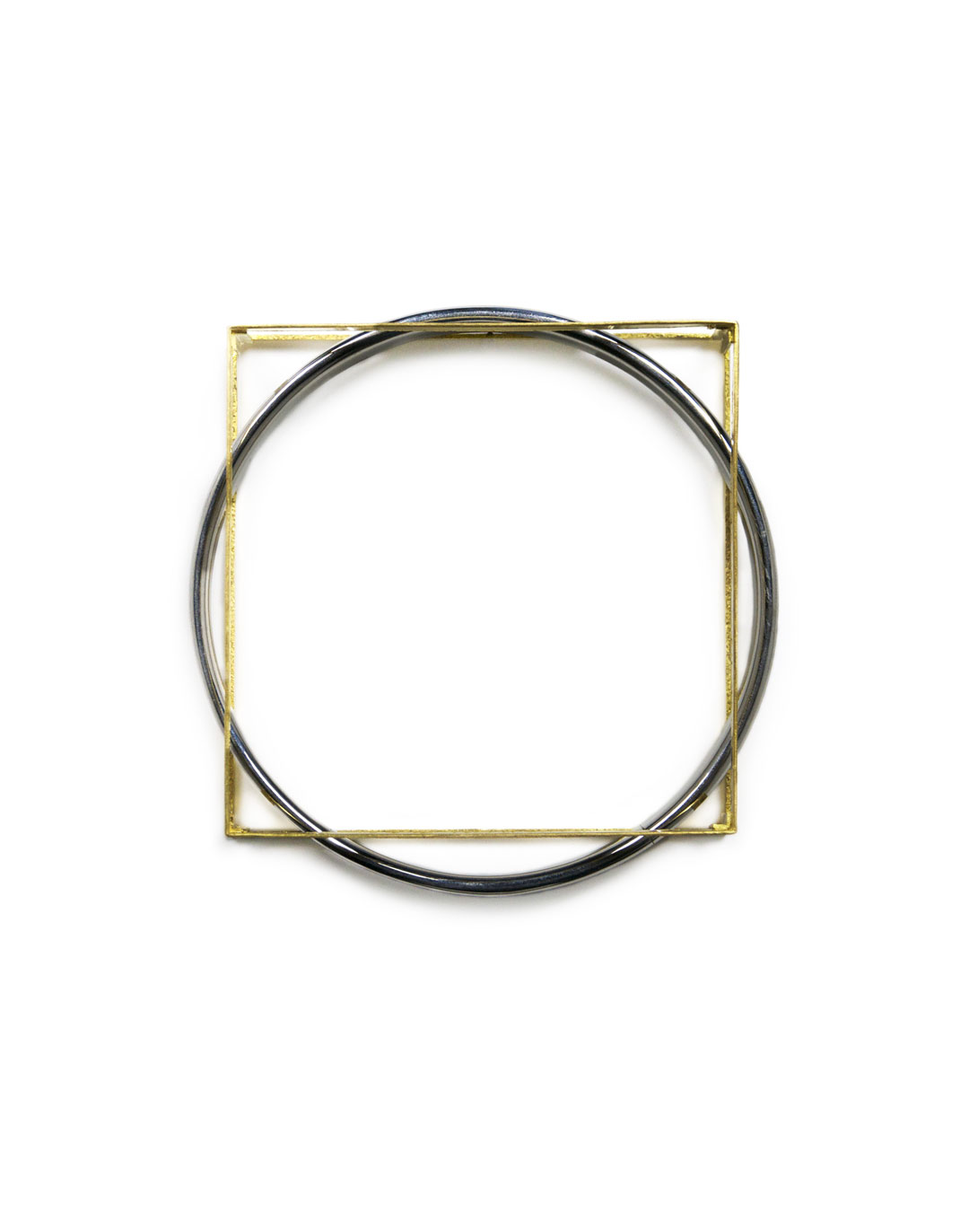 Okinari Kurokawa, untitled, 2012, bracelet; 20ct gold, stainless steel, 83 x 83 x 20 mm, €4800