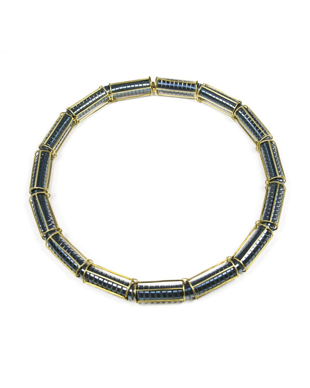 Okinari Kurokawa, untitled, 2013, necklace; 18ct gold, stainless steel, 220 x 220 x 14 mm, price on request