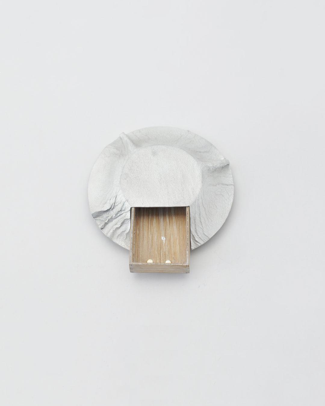 Anders Ljungberg, Declaration #3, 2019, brooch; aluminium, laminated oak, steel, silver, 110 x 100 x 21 mm, €920