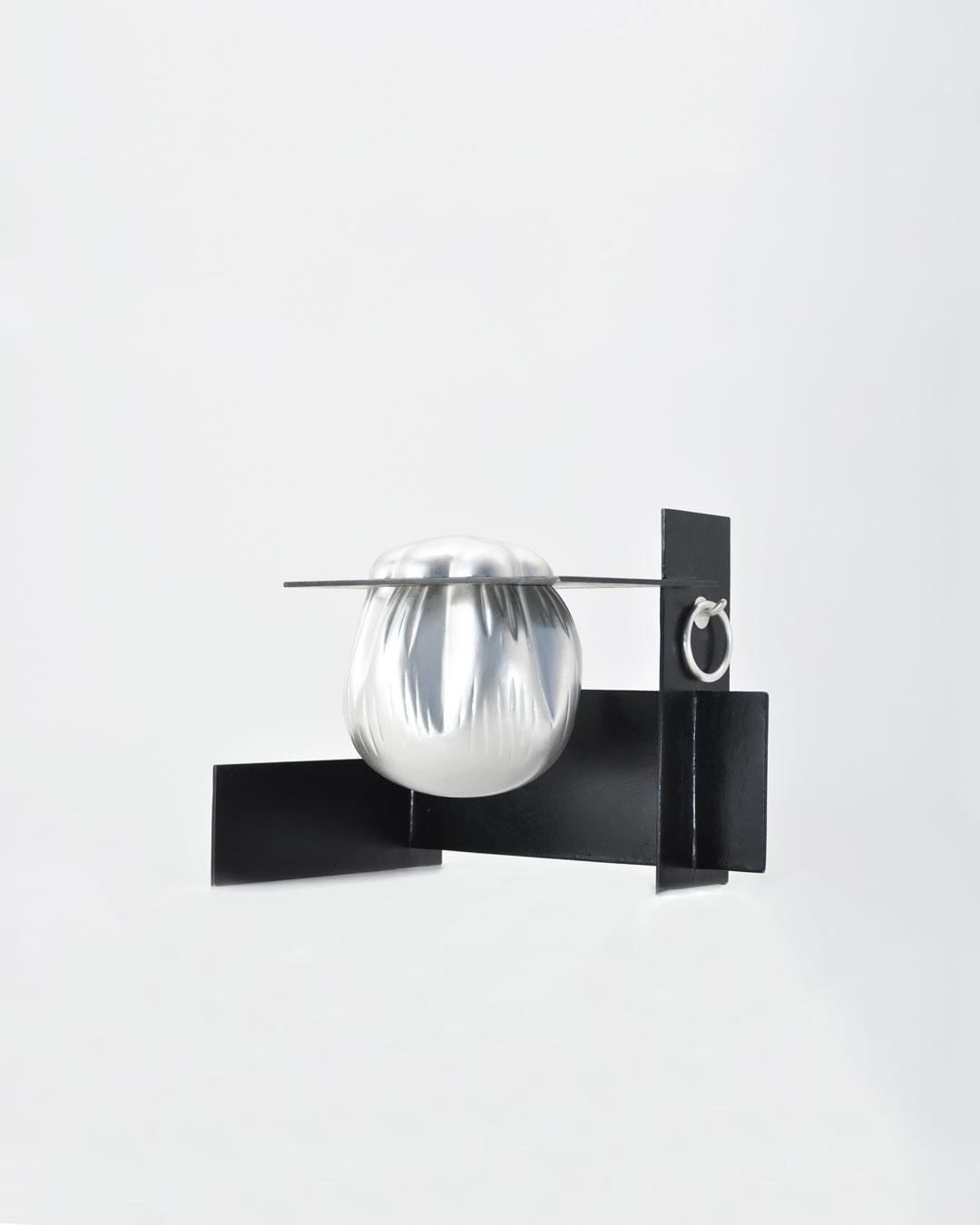Anders Ljungberg, Bag Beneath #3, 2019, object; silver, steel, 275 x 215 x 210 mm, €7750
