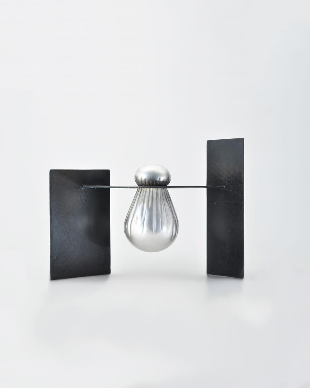 Anders Ljungberg, Bag Beneath, 2019, object; silver, steel, 325 x 260 x 270 mm, €7020