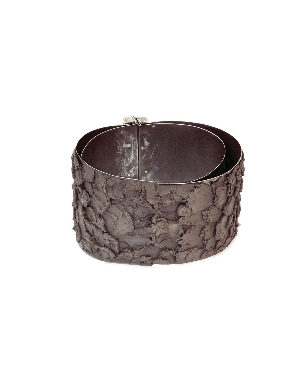 Stefano Marchetti, untitled, 2010, bracelet; titanium epoxy, steel, shibuichi, 80 x 50 x 10 mm, price on request