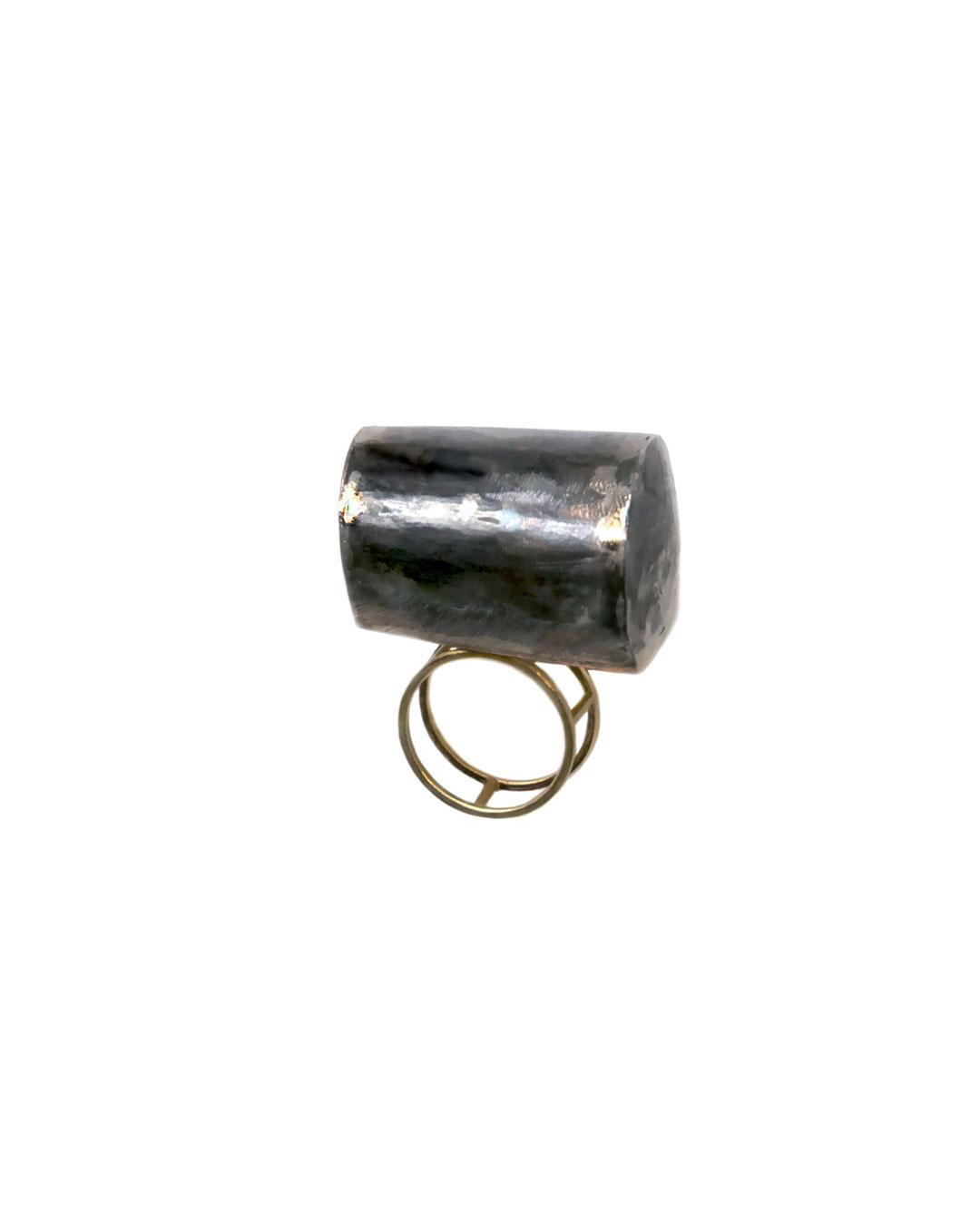 Stefano Marchetti, untitled, 2010, ring; steel, gold, 30 x 33 x 37 mm, €2500