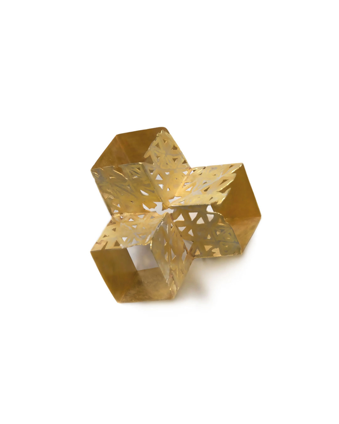 Stefano Marchetti, untitled, 2010, brooch; gold, 60 x 55 x 32 mm, €7300