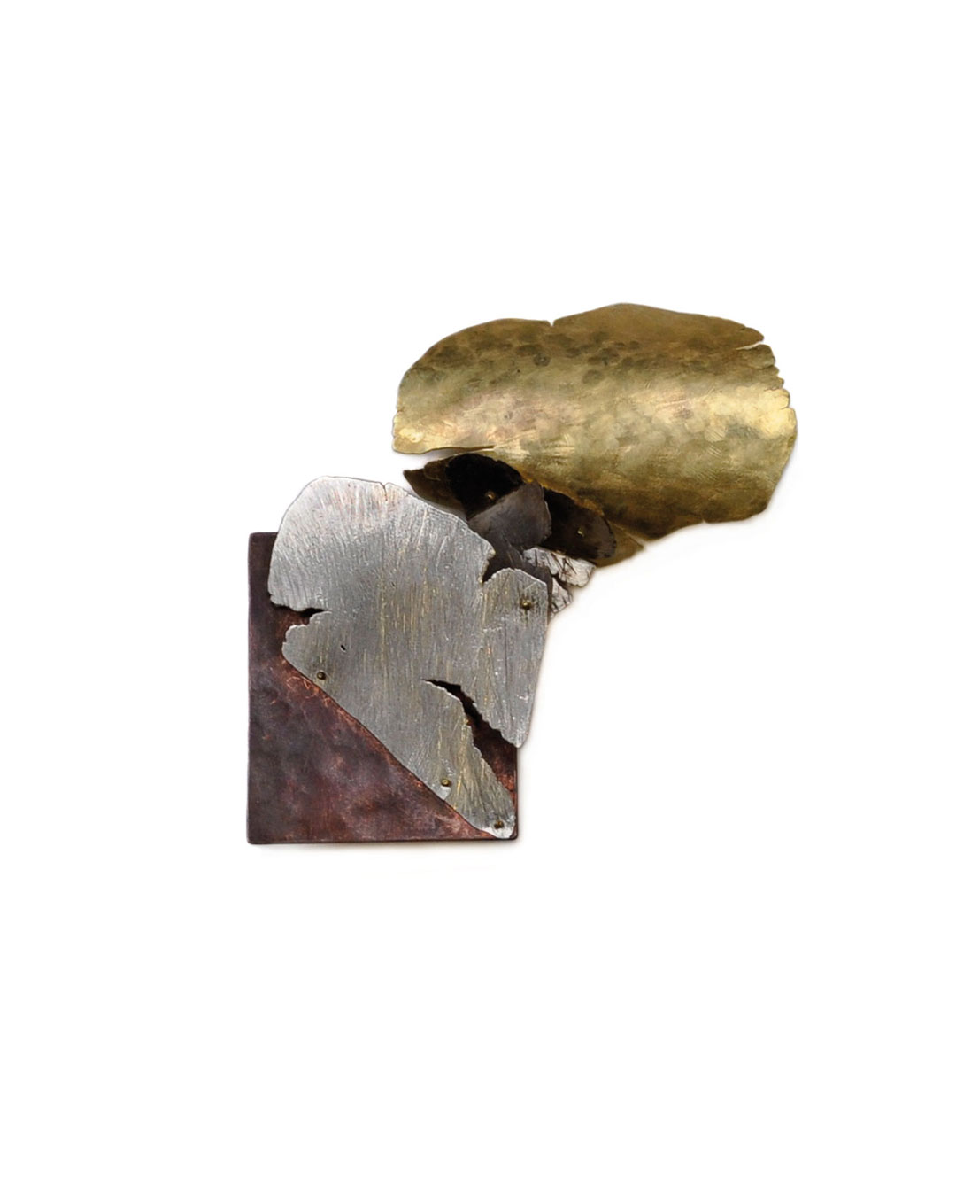 Stefano Marchetti, untitled, 2010, brooch; gold, copper, 78 x 77 x 16 mm, €5400