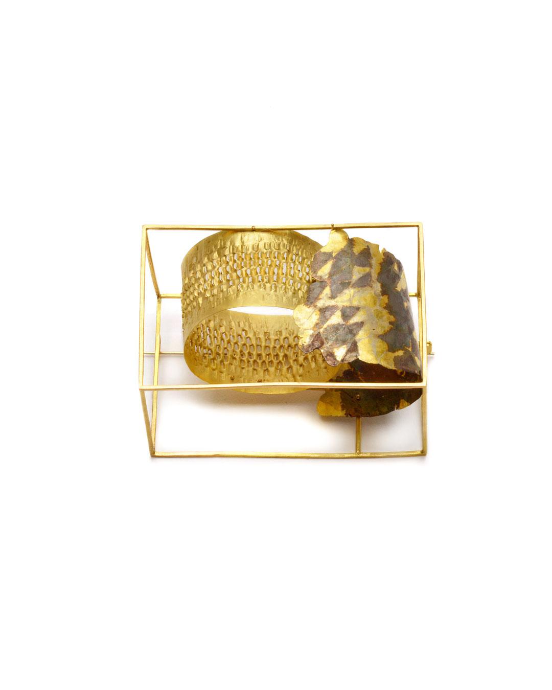 Stefano Marchetti, untitled, 2008, brooch; gold, silver, 71 x 50 x 36 mm, €8500