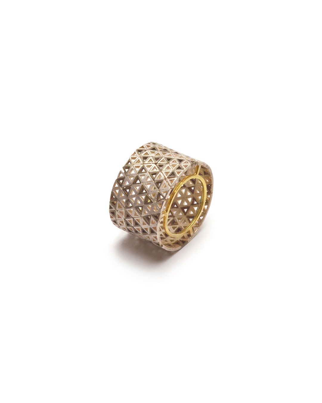 Stefano Marchetti, untitled, 2015, ring; gold, silver, 28 x 28 x 18 mm, €4000