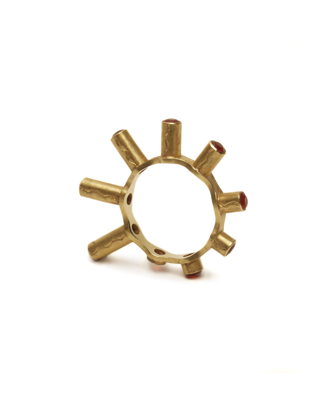 Julie Mollenhauer, untitled, 1993, ring; gold, fire opal, ø 30 x 4 mm, €1150