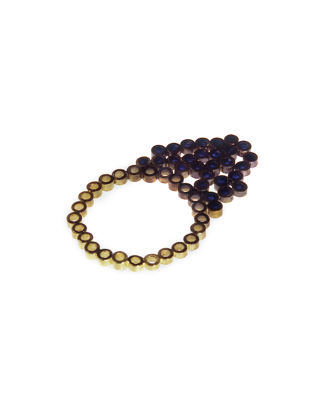 Julie Mollenhauer, untitled, 1999, ring; 18ct gold, glass, 35 x 22 mm, €880