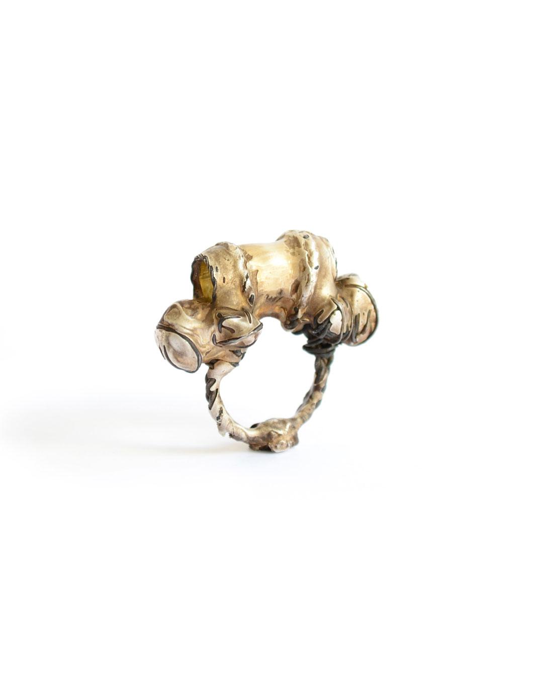 Dana Seachuga, Archetype Ring 8, 2014, ring; iron, silver, 35 x 42 x 18 mm, €605