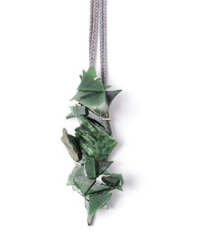 Lisa Walker, untitled, 2020, pendant; pounamu (New Zealand jade), silver, cord, €4360